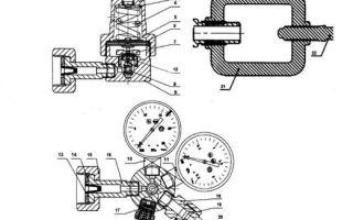 Кислородный редуктор: устройство, характеристики