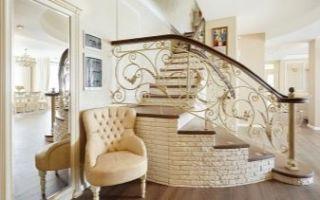 Кованые лестницы (46 фото) — винтовые, забежные, радиальные