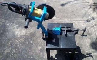 Как сделать дисковый отрезной станок по металлу своими руками