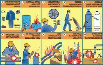 Техника безопасности при выполнении сварочных работ