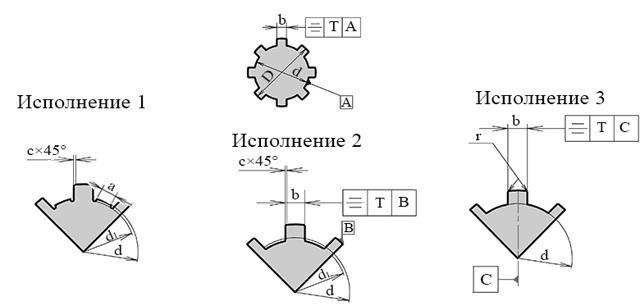 Шлицы эвольвентные: обозначение, расчет, ГОСТ, черчение
