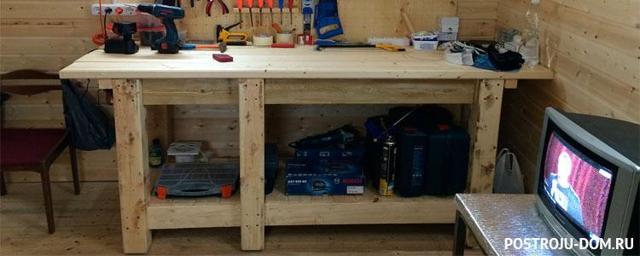 Верстак в гараж своими руками и процесс изготовления