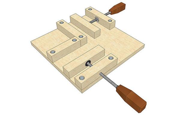 Угловая струбцина своими руками для сборки мебели