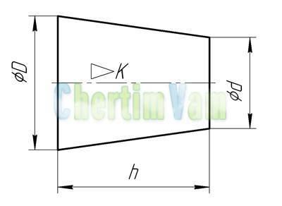 Конусность и уклон: построение, расчет, обозначение: значение, формула, как определить, построение