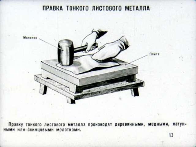 Правка металла: инструменты для правки тонколистового металла