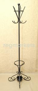 Кованые вешалки (60фото): напольные, настенные, угловые