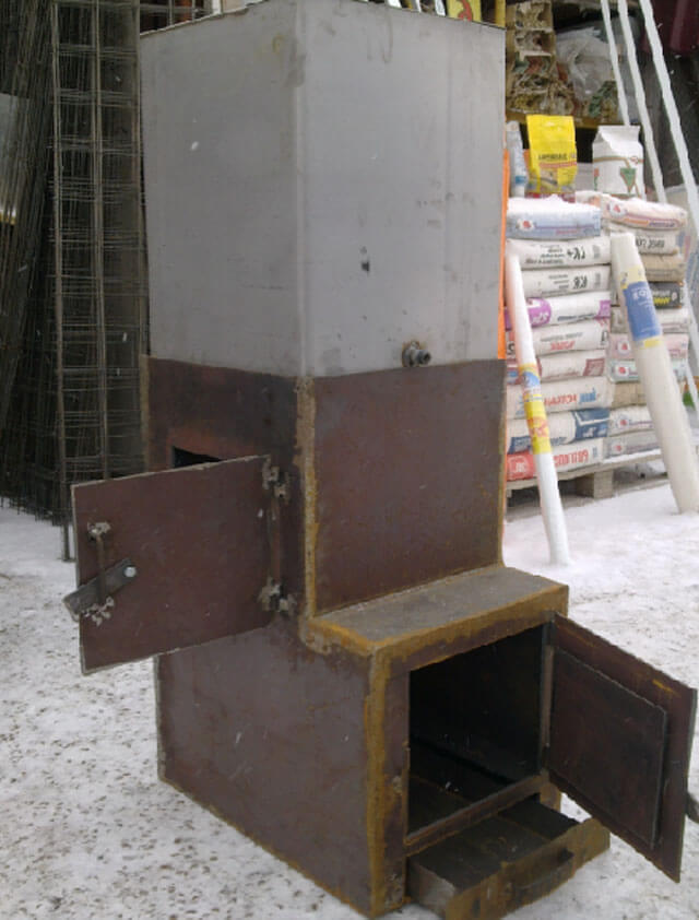 Банная печь из металла своими руками: чертежи, размеры, фото
