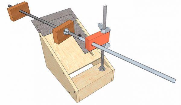 Приспособления для заточки ножей своими руками: чертежи, видео