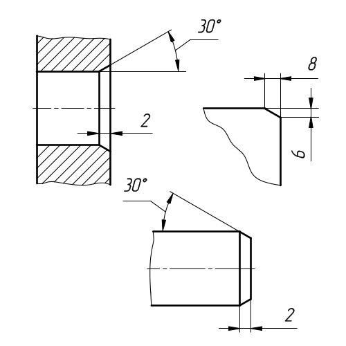 Фаска: способы изготовления, обозначение на чертежах, классификация