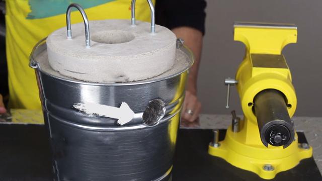 Как сделать горн для плавки алюминия своими руками