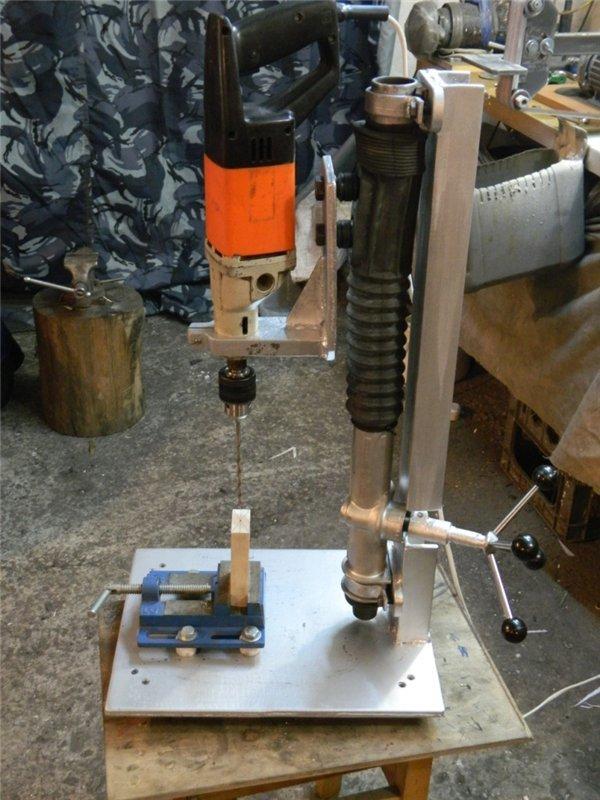 Сверлильный станок из рулевой рейки своими руками