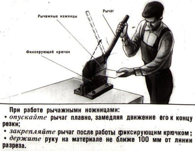 Рычажные ножницы для реки металла: ручные, профессиональные