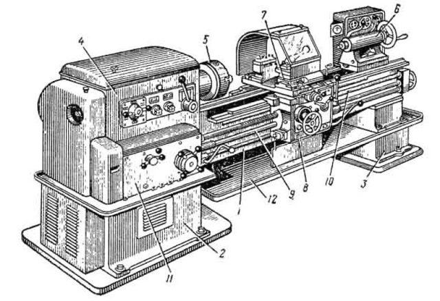 Токарно-винторезный станок 1К62 - характеристики, паспорт, видео, фото